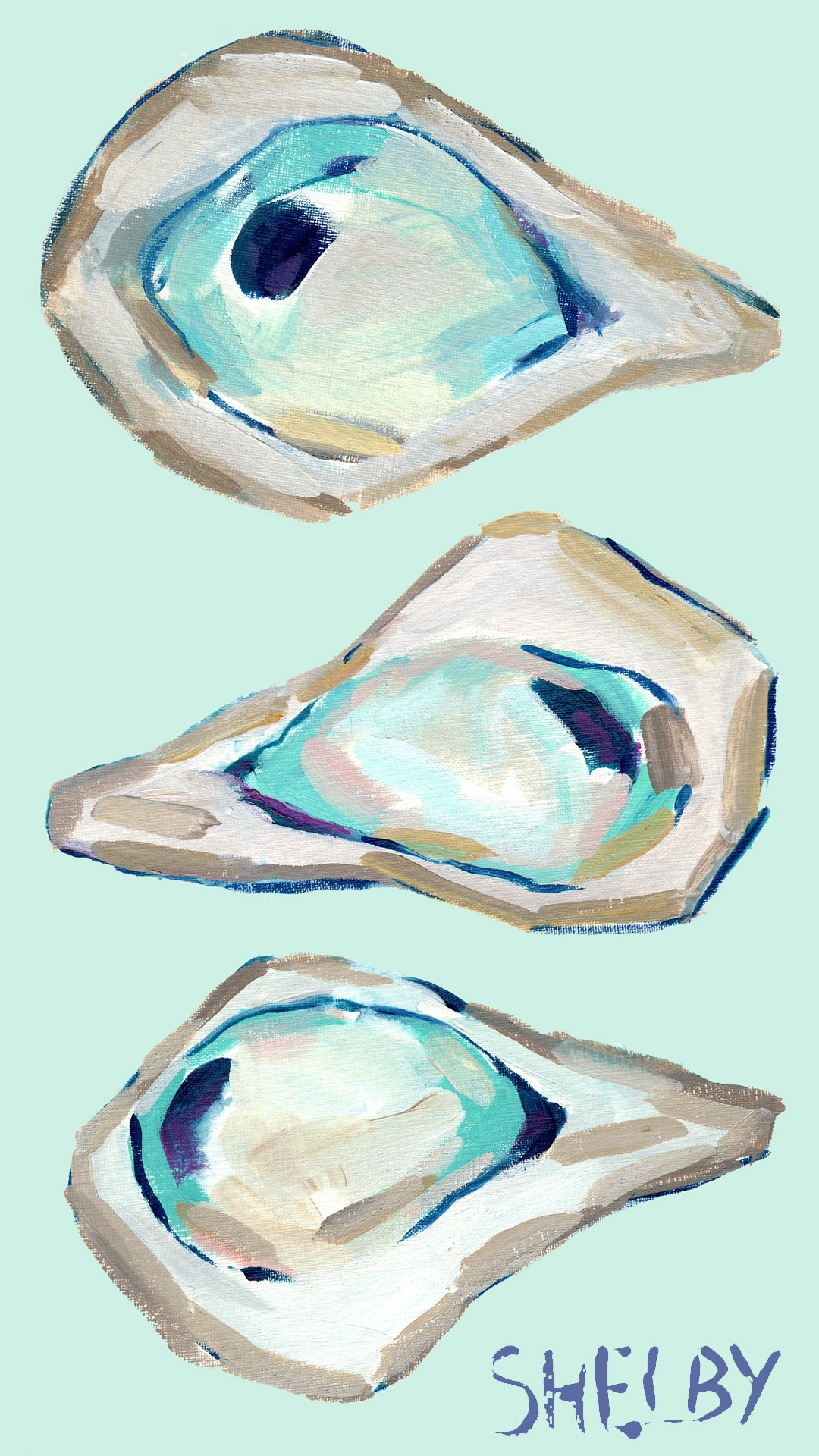Oyster Wallpaper by Shelby Dillon
