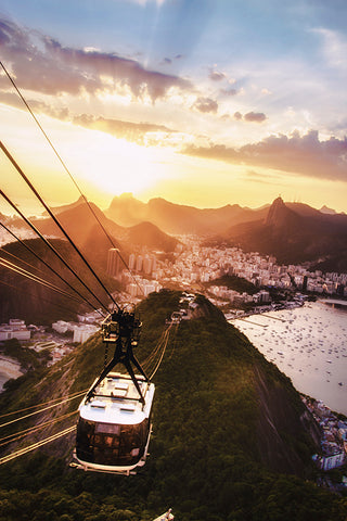 Sugarload Cable Car at Sunset