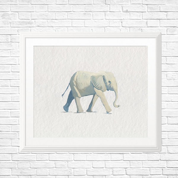 Elephant Art Print - Jungle Safari Nursery Art