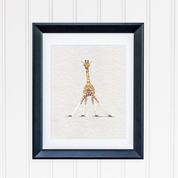 Baby Giraffe Safari Nursery Art Print