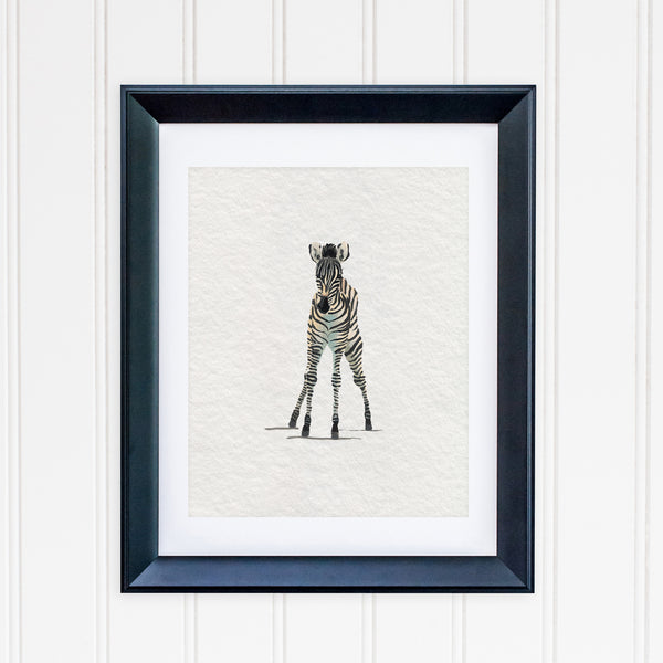 Baby Zebra Jungle Nursery Art Print