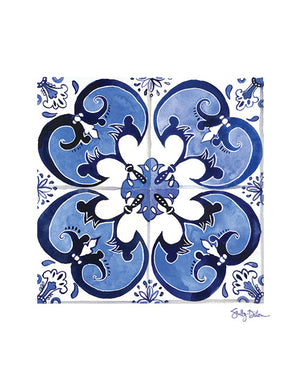 Spanish Azulejo Art Print | Shelby Dillon Studio