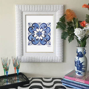 Spanish Azulejo Art Print | Framed