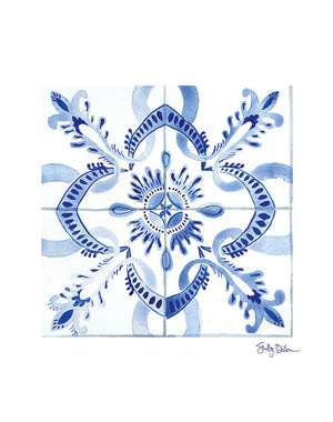 Moroccan Tile Art Print | Unframed