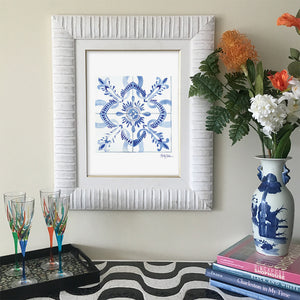 Moroccan Tile Art Print | Framed