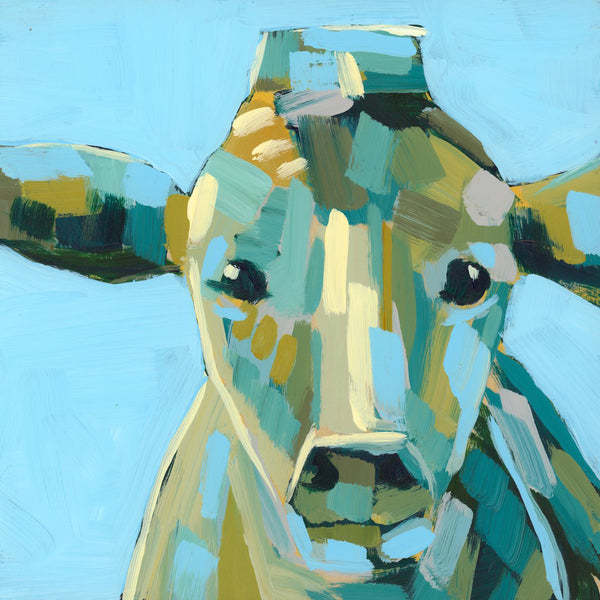 "Mini Moo Painting ""Aimee"" - 6x6"" square"