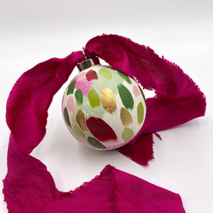 Azalea - hand painted ceramic ornament