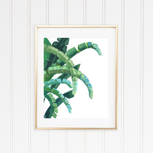 Banana wall art leaf print painting