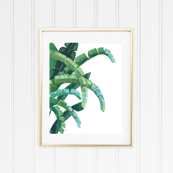 Banana Leaf Wall Art Print
