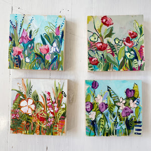 "Mini Painting - Wild Garden Holiday Mini #3 - 6x6"" square"