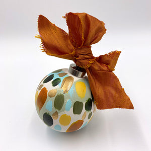 Cinnamon - hand painted ceramic ornament