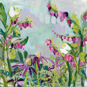 "Return to Eden - Mini Garden Day 10 - 6x6"" painting"