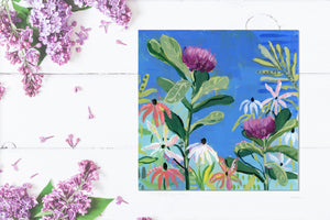 "Return to Eden - Mini Garden Day 2 - 6x6"" painting"