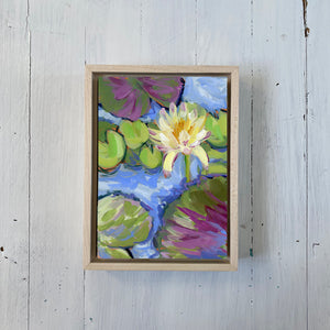 "Water Gardens - Day 2 - 5x7"" mini vertical painting"