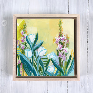 "Return to Eden - Mini Garden Day 3 - 6x6"" painting"