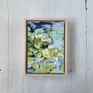 "Water Gardens - Day 4 - 5x7"" mini vertical painting"