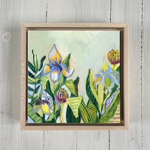 "Return to Eden - Mini Garden Day 5 - 6x6"" painting"