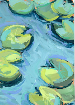 "Water Gardens - Day 5 - 5x7"" mini vertical painting"