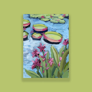 "Water Gardens - Day 7 - 5x7"" mini vertical painting"