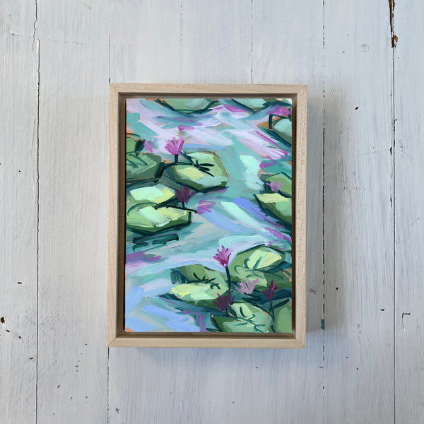 "Water Gardens - Day 8 - 5x7"" mini vertical painting"