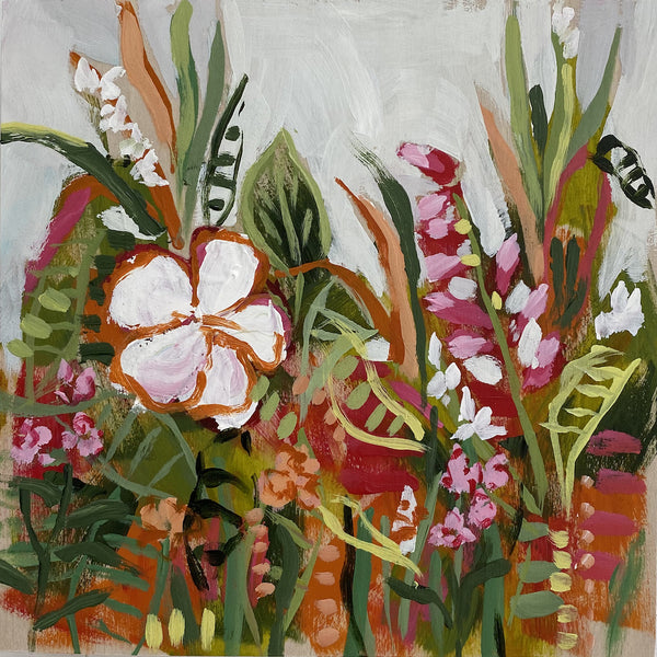 "Wild Garden Mini No. 12 - 6x6"" square"