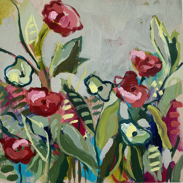 "Wild Garden Mini No. 13 - 6x6"" square"