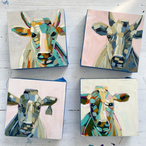 "Mini Moo Painting ""Archie"" - 6x6"" square"