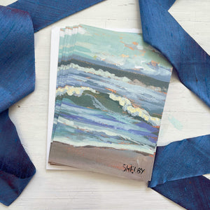 "5x7"" Note Cards - Crashing Waves - featured in Art On Fire 2020"