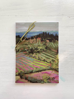 "5x7"" Note Cards - Tuscan Landscape - featured in Art On Fire 2020"