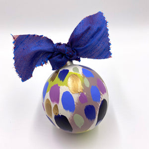 Iris - hand painted ceramic ornament