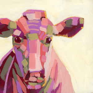 "Mini Moo Painting ""Louise"" - 6x6"" square"
