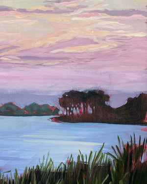 "Lowcountry Evening - 16x20"" Vertical Painting - SALT Collection"