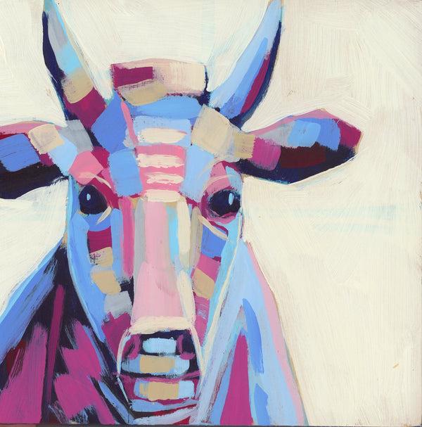 "Mini Moo Painting ""Matilda"" - 6x6"" square"