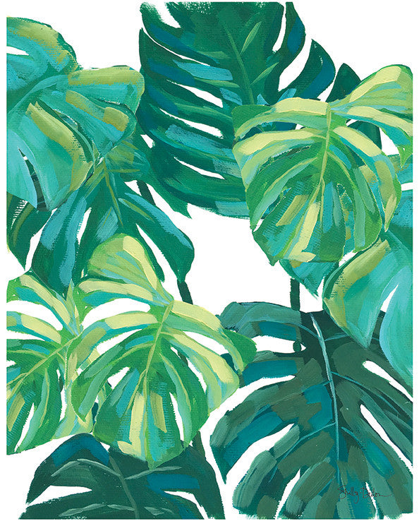 Monstera Leaf Acrylic Painting Simple
