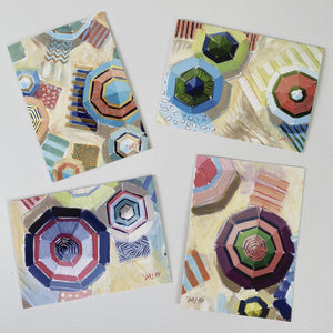 "5x7"" Note Cards - Umbrellas"