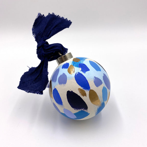 Ocean Breeze - hand painted ceramic ornament