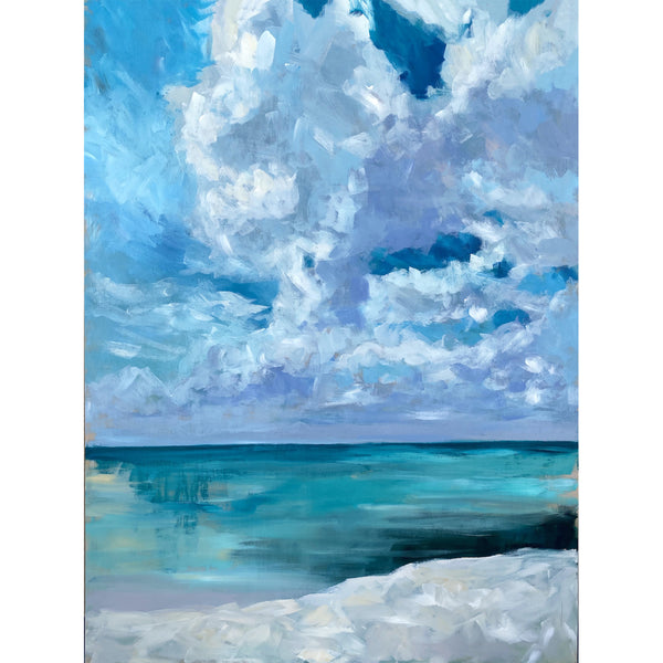 "Sea Salt - 30x40"" Vertical Painting - SALT Collection"