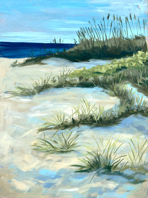 "Steps Away From Sanctuary - 18x24"" Vertical Painting - SALT Collection"