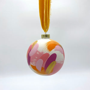 Sunburst - hand painted ceramic ornament