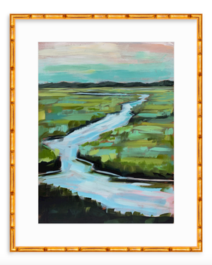 Meandering - vertical canvas print