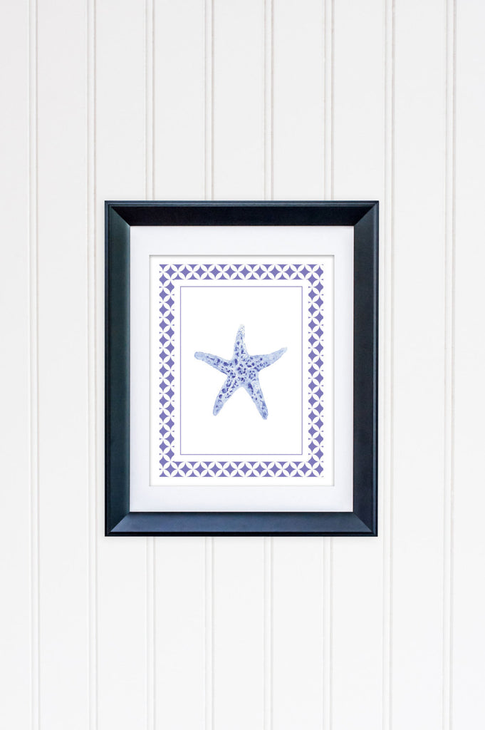 Blue Starfish Framed | Fine Art Print