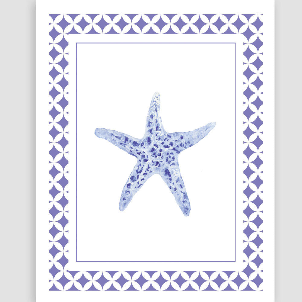 Blue Starfish Unframed | Fine Art Print