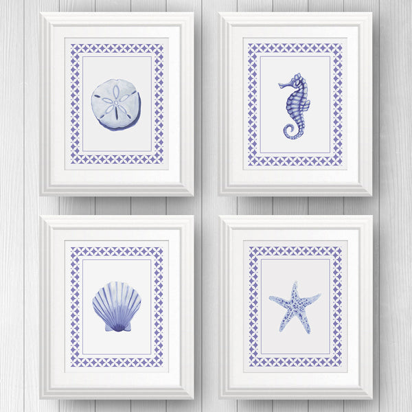 Sea Creatures Framed | Art Print Set