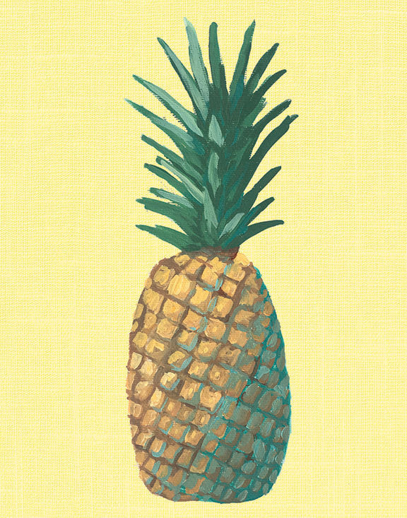 Yellow Pineapple Pop Art Unframed | Art Print