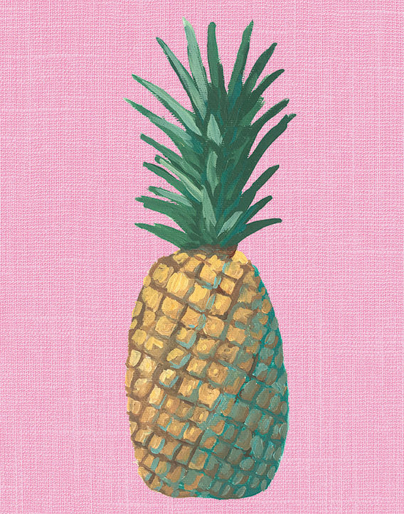 Pink Pineapple Pop Art Unframed | Art Print