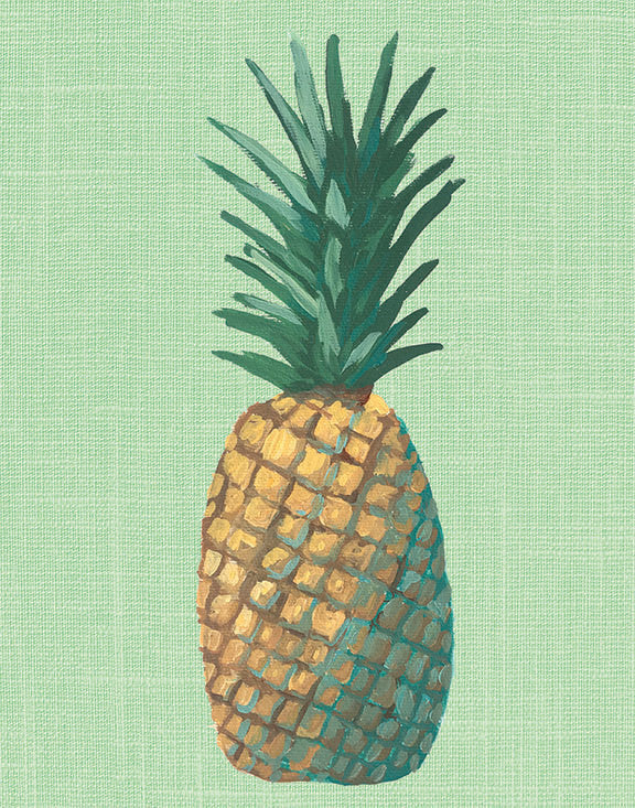 Green Pineapple Pop Art Unframed | Art Print