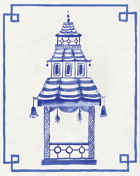 Blue and White Pagoda | Fine Art Prints