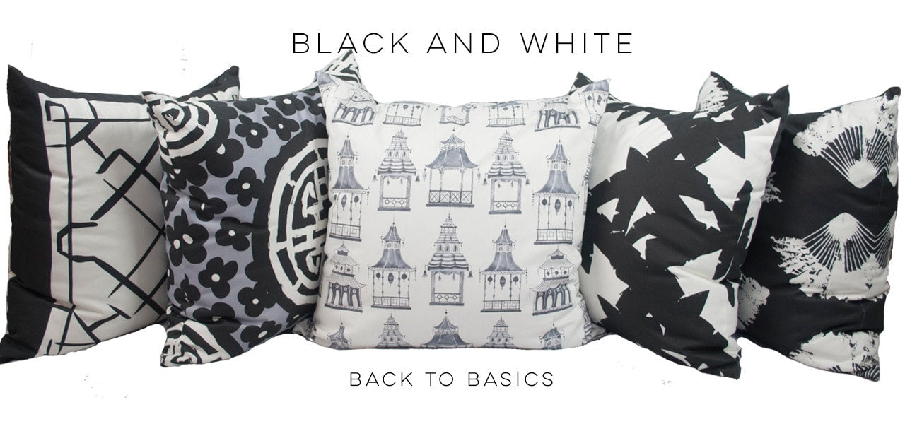 BLACK AND WHITE PILLOW COLLECTION
