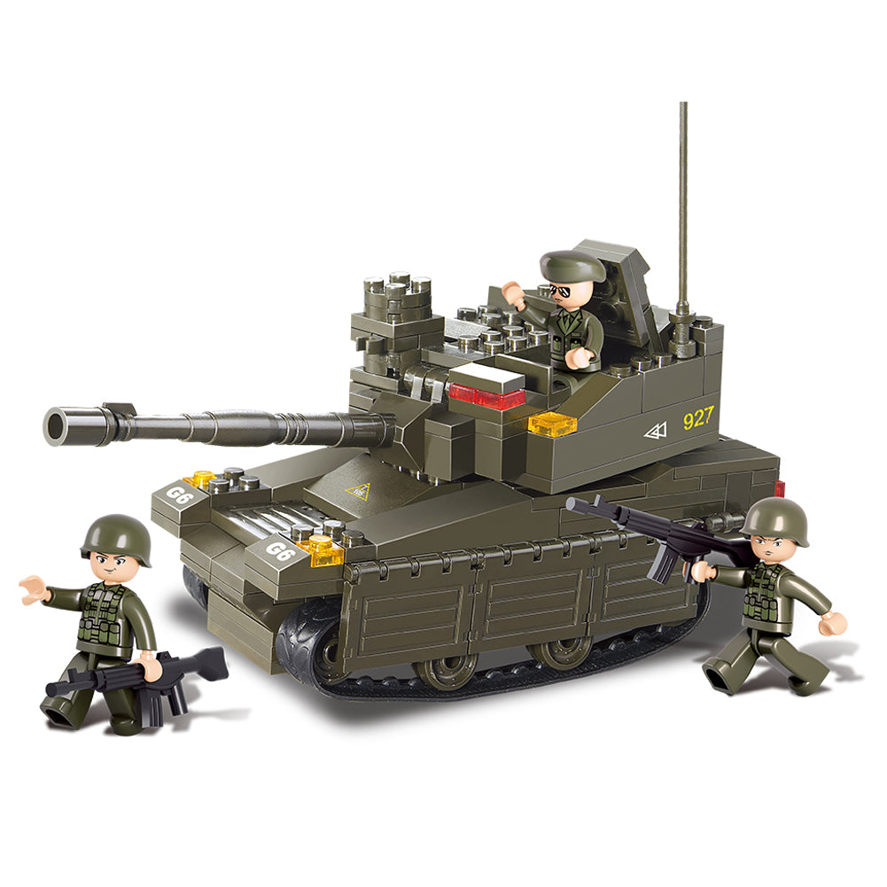 Army Military Building Bricks Set Toy Leopard Ii Main Battle Tank