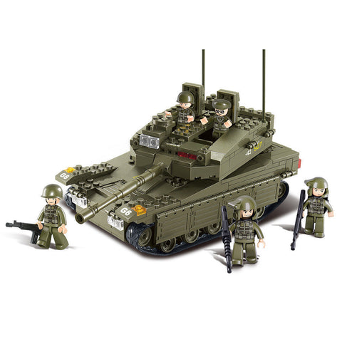 Sluban Military Building Blocks Army Bricks Toy - Merkava Tank